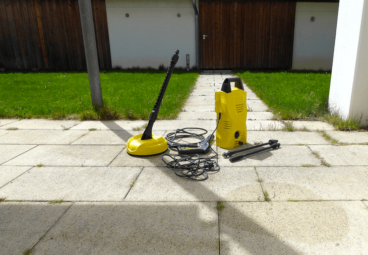 The 2000 PSI pressure washer is a versatile machine. It's suitable for both light and medium-duty cleaning.