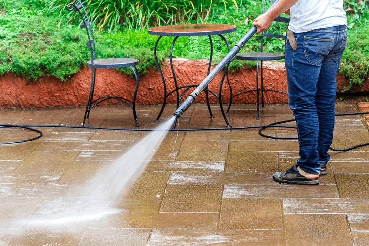 Craftsman is a good brand to consider for cleaning the patio, deck, and concrete floor