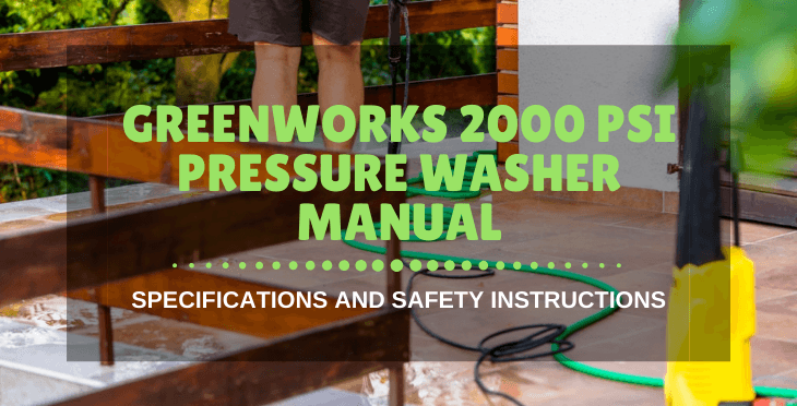 Greenworks 2000 psi pressure washer manual