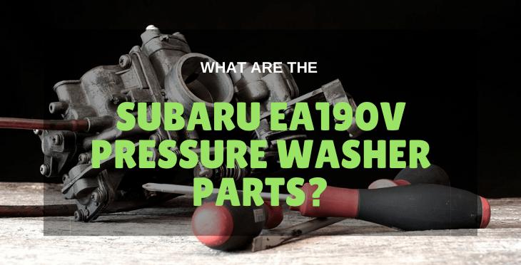 Subaru ea190v Pressure Washer Parts
