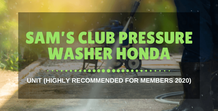 Sam's Club pressure washer Honda