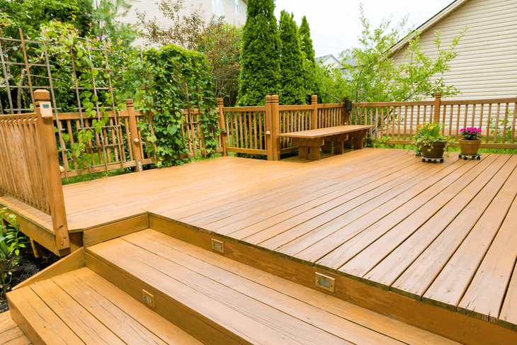 Wooden decks need special cleaning treatment as compared to concrete floors